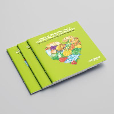 Diseño de portada del Manual de Nutrición. Oximesa