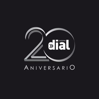 Diseño del Logotipo del 20 Aniversario de Cadena Dial.