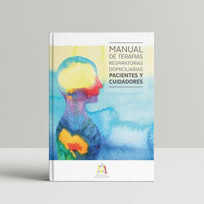 """Diseño del """"Manual Terapias Respiratorias"""" de 40 páginas. Oximesa"""