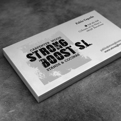 Diseño del Logotipo Strong Boost SL.