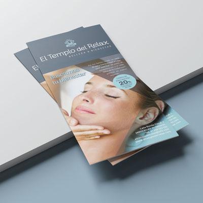 Flyer promocional El Templo del Relax.