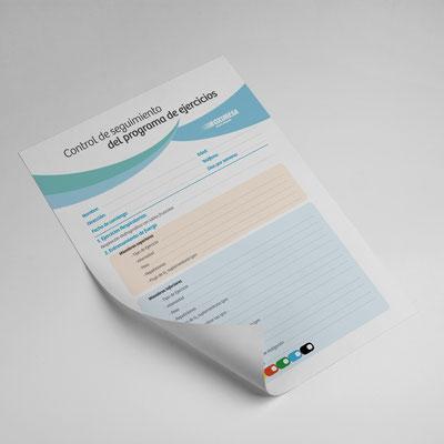 Ficha de seguimiento del Programa de ejercicios. Oximesa.