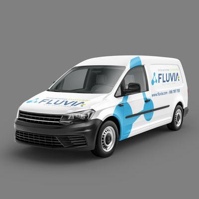 Rotulación de los vehículos de EcoFluvia.