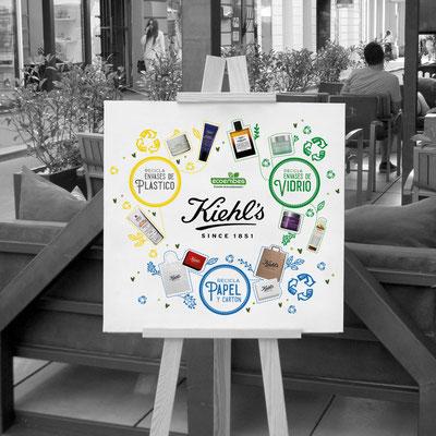 Cartel colaborativo de Kiehl's y Ecoembes.