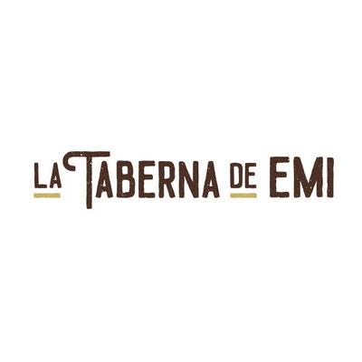 Creación de el logotipo para La Taberna de Emi, una taberna para disfrutar de la comida casera.