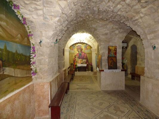 Пещера св. семейства и иконы Млекопитательницы