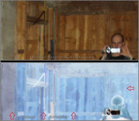 Des Orbes tout près de l'enquêteur Ian au sous-sol