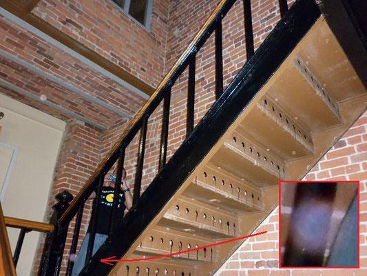 L'Escalier central de la prison.
