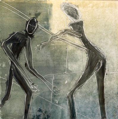 Anita Windhager - Art Parieté -Monotypie mit Ölfarben auf Büttenpapier 260g/m2