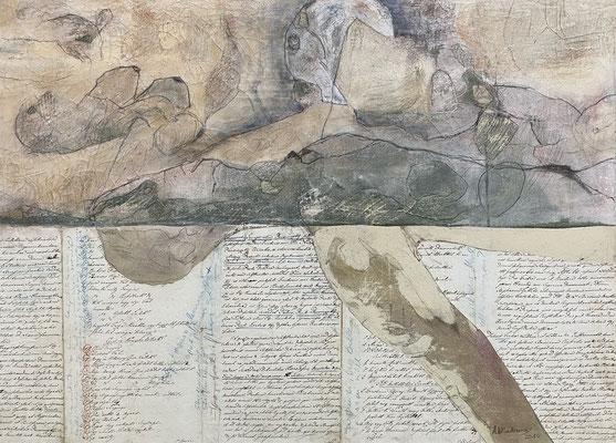 Schriftentaucher 80 x 100 cm