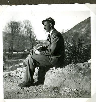 Philipp Häfner sen. 1954 mit fescher Kappe