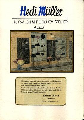 Übernahme  1955