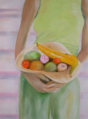 2005 Frau mit Obst