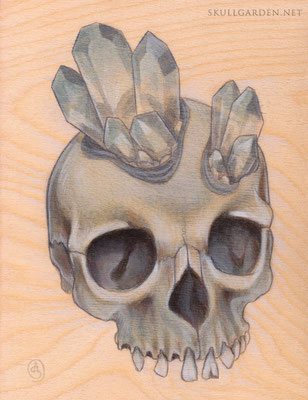 Aquamarine Crystal Skull. 2015.
