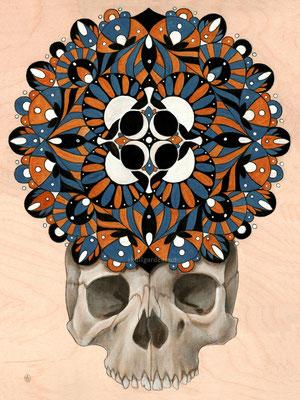 Mandala Skull. 2015.