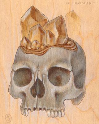 Citrine Crystal Skull. 2015.
