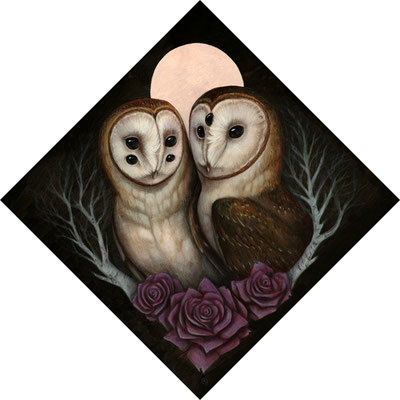 Barn Owl Couple. 2015.