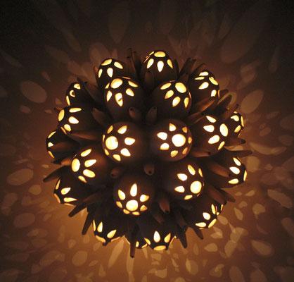 """Round Floral Lantern (8"""" x 9"""" x 9"""")"""