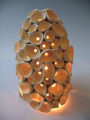 """Scallop Lantern (10"""" x 7"""" x 7"""")"""