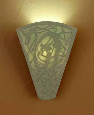 Aqua Splash: Leo Peck: Porcelain Sconce | Artful Home