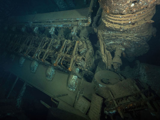 Engine room of Giannis D wreck
