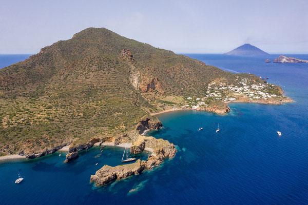 Eolien islands, Panarea (Stromboli in the background)
