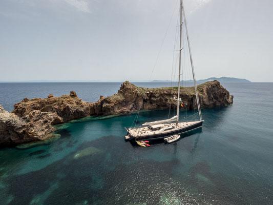 Eolien islands, Panarea (unfortunately not my yacht...)