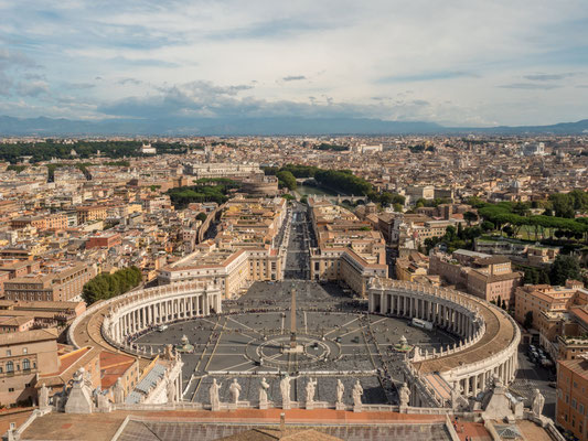 St. Peter's Square, seen from the cupola of St. Peter's Basilica (550 steps to climb)  [Vatican city, Rome, 2019]