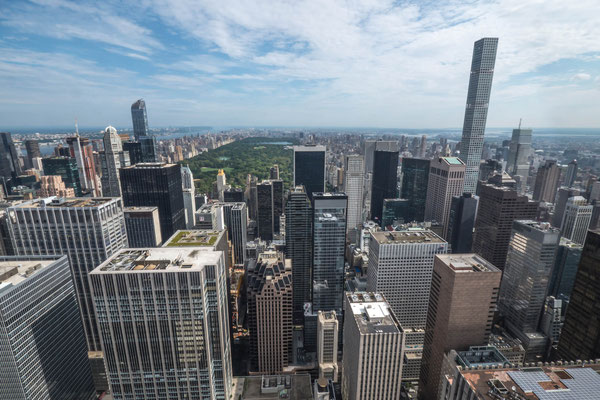 New York - Central Park - View from Top of the Rock (Rockefeller Center) [2016]