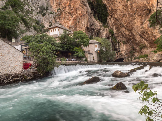 Vrelo Bune - Spring of Buna river, and Blagaj Tekija - Historic monastery with a mausoleum