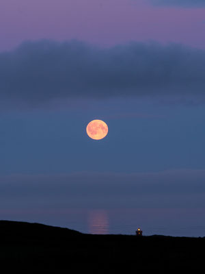 Moon and lighthouse