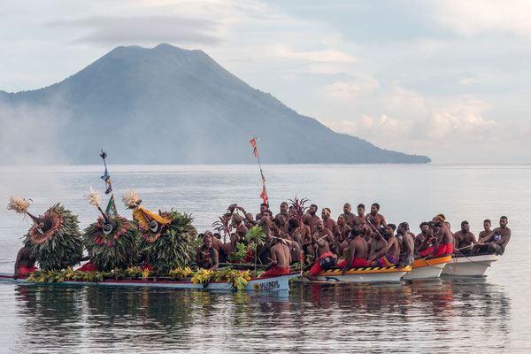 Mask festival in Kokopo, capital of East New Britain province in PNG: 'Kinavai' - the arrival of the Tolai Tubuans at dawn