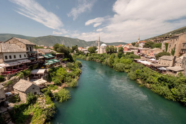 Mostar with the Neretva river