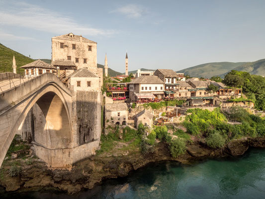 Mostar - Old bridge over Neretva river