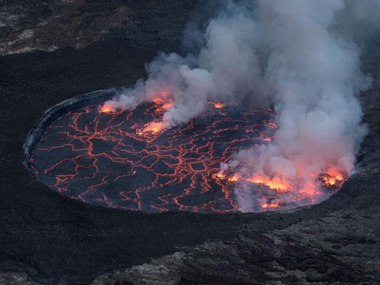 Lava lake, Nyiragongo volcano, Virunga National Park, DRC