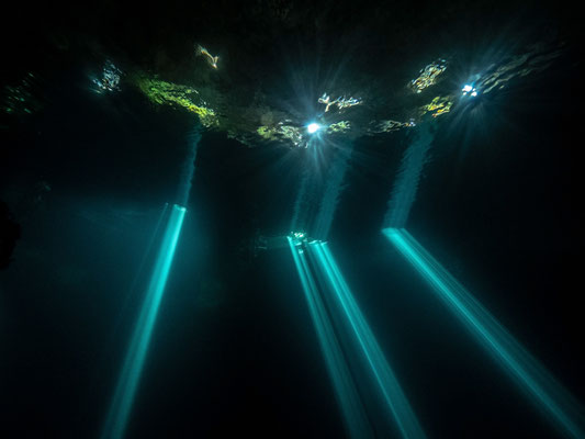 Sunrays at Cenote Kin Ha