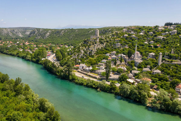 Pocitelj historic village at the Neretva river