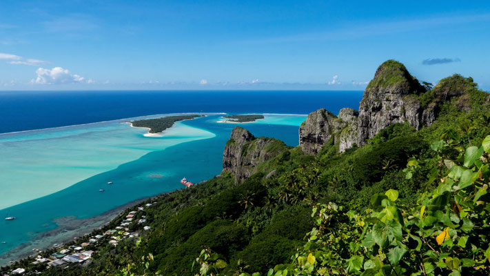 Panorama view of Maupiti and it´s Motus [French Polynesia, 2014]