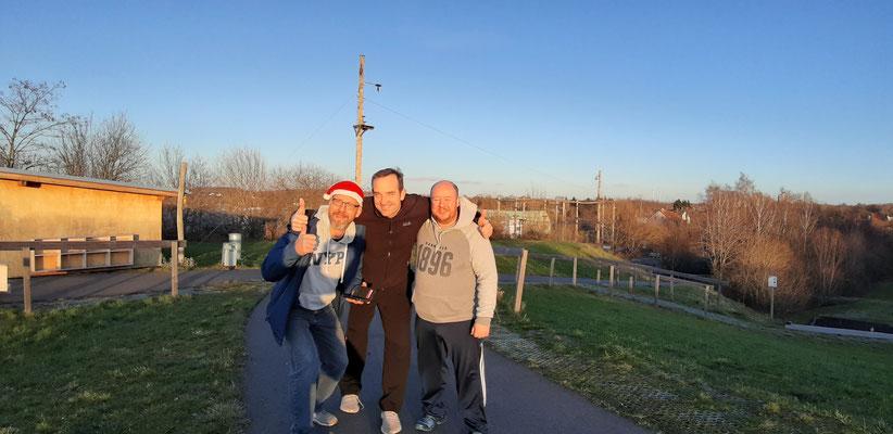 Trainerteam der F1-Junioren (Stefan, Johann und Jens v.l.)