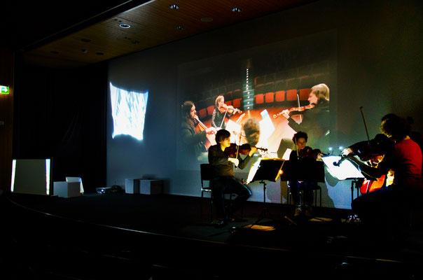 Paysages / szenisches Konzert / Asasello Quartett / Regie - Sebastian K König / Vögele Kulturzentrum, Pfäffikon