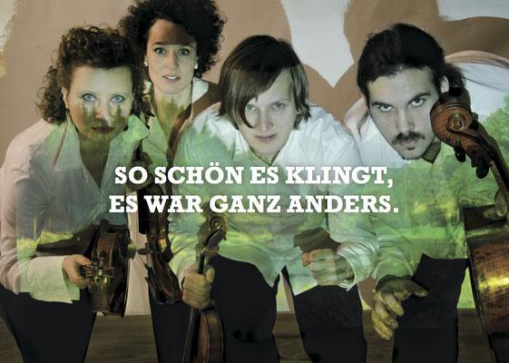 Paysages / szenisches Konzert / Asasello Quartett / Regie - Sebastian K König / Postkarte