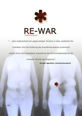 RE-WAR - Ankündigungsplakat - Sebastian K König / Lea Walloschke / sagardía