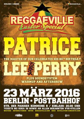 Patrice & Lee Scratch Perry | 23. März 2016 | Postbahnhof | Licht Design