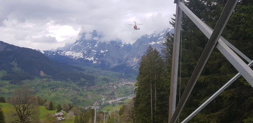 Flugdemontage in Grindelwald