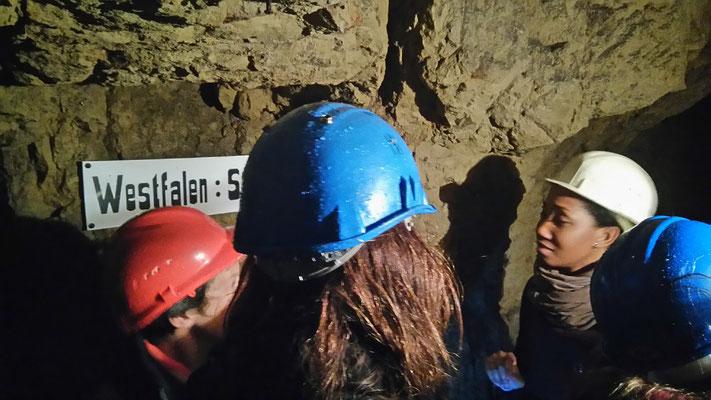Dans les galeries souterraines de la butte de Vauquois - Site de Mémoire