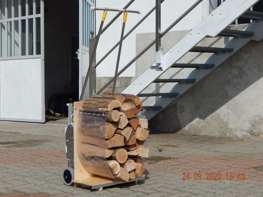 carrello scale per la legna