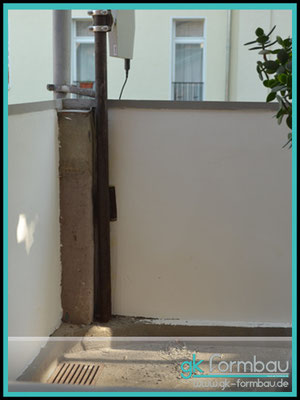 Balkon Pfeiler Verkleidung aus Sto Glasschaumplatten