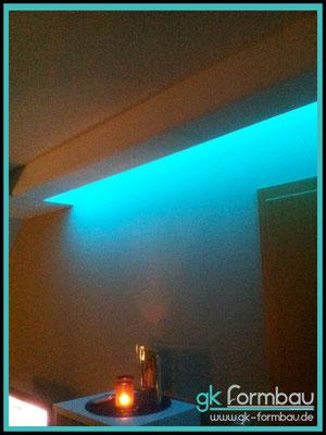 LED Lichtvoute im Wohnbereich...GKB ohne Schattenfuge mit Rundung