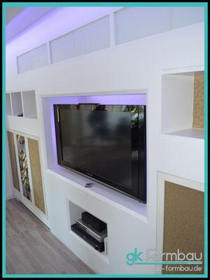 TV Einbaukasten in Trockenbauwand