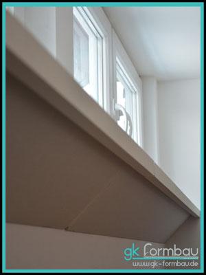 Fensterbrett 2 teilig aus GKB